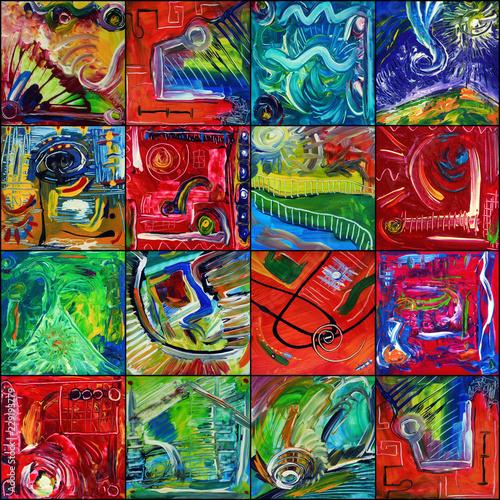 kunstquadrate, originale zusammengestellt, quadratisch, für psoter und backgrounds - 229193779