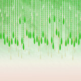 Backgound image of lacy leaf curtain streamers with copy space - 229201954