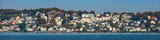 Panorama of Blankenese quarter of Hamburg, Germany