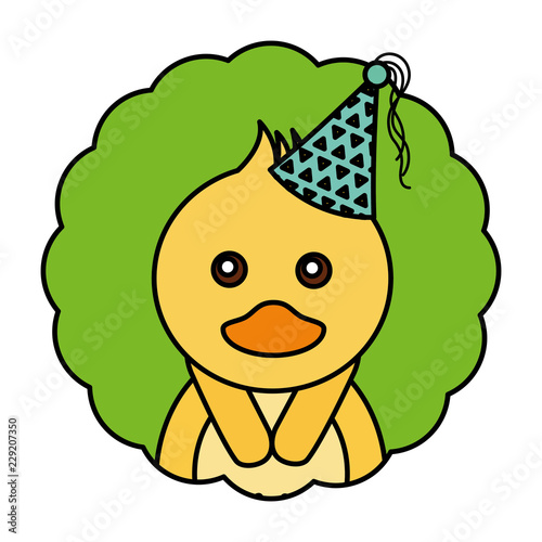 cute kawaii duck party hat