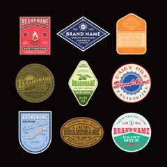 Vintage logo & label design set