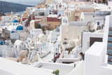 details of the architecture of the village of Oia Santorini - 229235547
