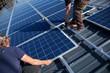 canvas print picture - Aufbau einer Photovoltaik- Anlage