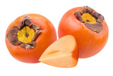 Fresh persimmon isolated on white background with clipping path - 229248367