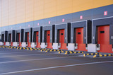 innovative logistic warehouse complex. Excellent solution for storing, sorting and transporting products - 229248536
