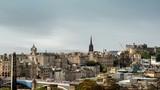 hyper lapse, Edinburgh skyline as seen from Calton Hill, Scotland, UK