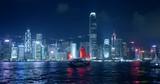 Hong Kong at night, Victoria Harbor
