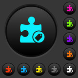 Tag plugin dark push buttons with color icons