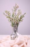 White flower bouquet in the vase