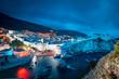 Leinwanddruck Bild - Historic town of Dubrovnik at twilight, Dalmatia, Croatia