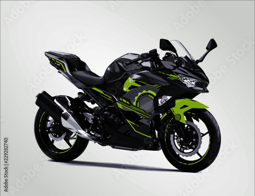 Modern super sports bike team Moto gp speed race vector sticker decal strip livery simple template creative illustration isolated