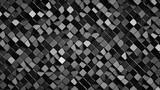 Black rotated rhomb shapes 3D render - 229296990