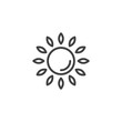 Sun outline icon. linear style sign for mobile concept and web design. Sunlight simple line vector icon. Light symbol, logo illustration. Pixel perfect vector graphics