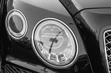 headlights black car