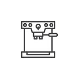 Coffee machine outline icon. linear style sign for mobile concept and web design. coffee maker simple line vector icon. Symbol, logo illustration. Pixel perfect vector graphics