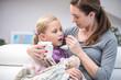 Leinwanddruck Bild - little girl is sick