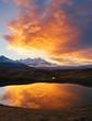 Stunning image of the fantastic lakes Koruldi at the foot of Mt. Ushba.