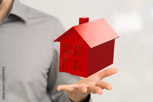 czerwony dom