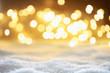Leinwanddruck Bild - Bokeh Hintergrund mit Schnee