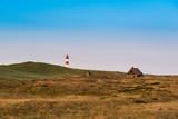 Lightouse on dune on Sylt island. Germany. - 229369778