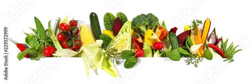 Leinwandbild Motiv Gemüse - Panorama