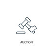 Auction concept line icon. Simple element illustration. Auction  concept outline symbol design. Can be used for web and mobile UI/UX