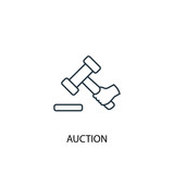 Auction concept line icon. Simple element illustration. Auction  concept outline symbol design. Can be used for web and mobile UI/UX - 229382537