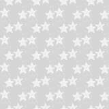 Geometric seamless pattern. Smiling starfish