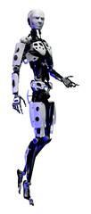 3D Rendering Male Robot on White © photosvac