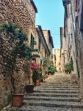 narrow street in old town in Mallorca