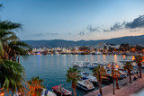 The capital of the island of Kos, Greece, view of the city and marina at sunset, a popular destination for travel in Europe - 229412189