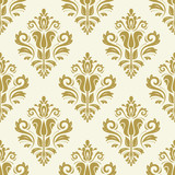 Orient vector classic pattern. Seamless abstract background with vintage elements. Orient golden background. Ornament for wallpaper and packaging - 229427528