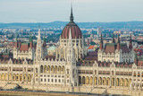 Hungarian Parliament Building in Budapest, One of the most beautiful buildings in the Hungarian capital. - 229428198