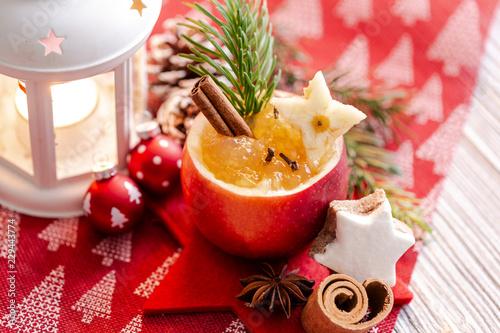 Leinwanddruck Bild Weihnachtsapfel Motiv