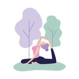 woman training yoga exercise posture