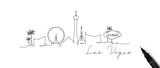 Pen line silhouette las vegas - 229451757