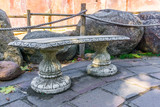 beautiful stone greek style bench or table amazing garden decoration
