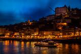 night view of porto portugal