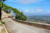 Auto Strasse Panoramablick Berg Puig de Sant Salvador