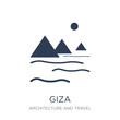 Giza icon. Trendy flat vector Giza icon on white background from Architecture and Travel collection