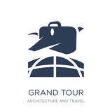 grand tour icon. Trendy flat vector grand tour icon on white background from Architecture and Travel collection