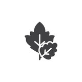 Tree leaves vector icon. filled flat sign for mobile concept and web design. Leaf plant simple solid icon. Symbol, logo illustration. Pixel perfect vector graphics