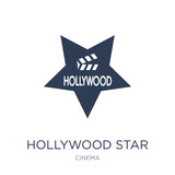 Hollywood Star icon. Trendy flat vector Hollywood Star icon on white background from Cinema collection