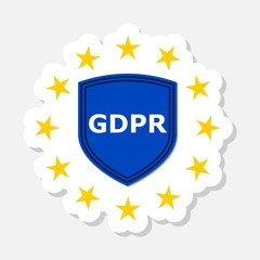 General Data Protection Regulation (GDPR) sticker