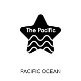 pacific ocean icon. pacific ocean symbol design from United states of america collection. - 229514188