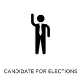 Candidate for elections icon. Candidate for elections symbol design from Political collection. - 229514315