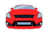 Vector illustration of the front of a sports car