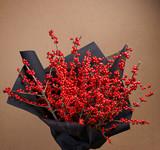 European Holly (Ilex) bouquet