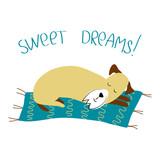 vector color cute fox terrier dog pet family animal  cartoon doodle pattern simple childish design for textile paper - 229534740
