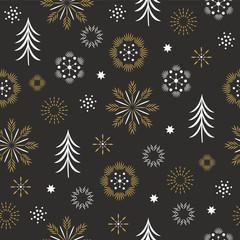 seamless pattern, seasons greetings,beautifil christmas background